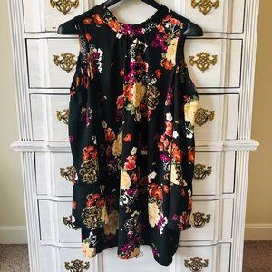 Xhilaration Women's Plus Size Floral Dress